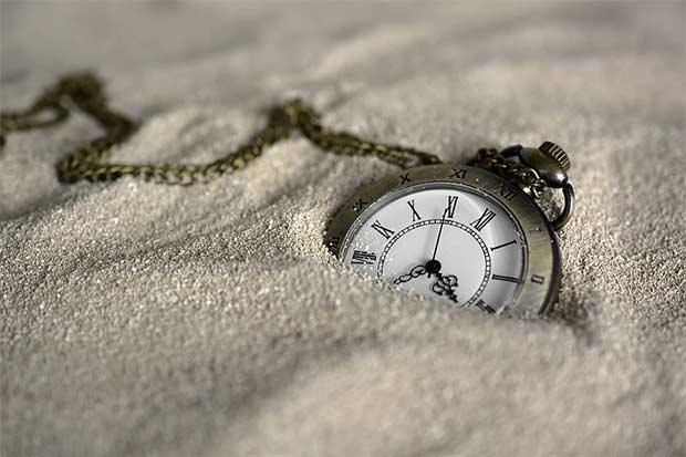 течение времени